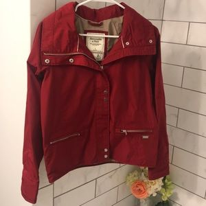 Abercrombie & Fitch red windbreaker jacket
